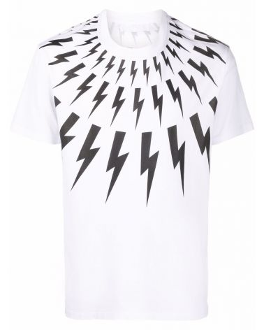 T-Shirt mm giro Fair-isle Thunderbolt