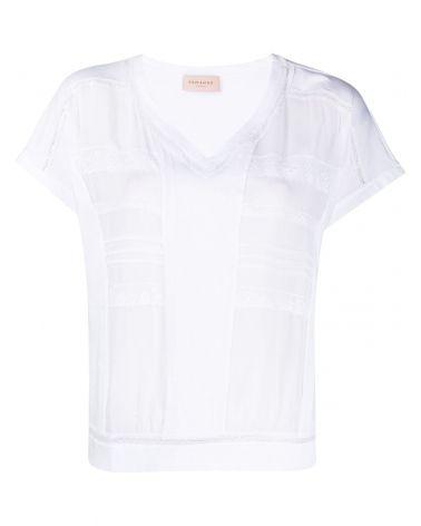 T-Shirt mm + collo strass