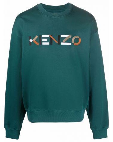 Felpa ml giro logo Kenzo multicolor