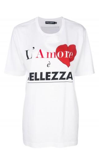 T-Shirt mm giro Amore è bellezza