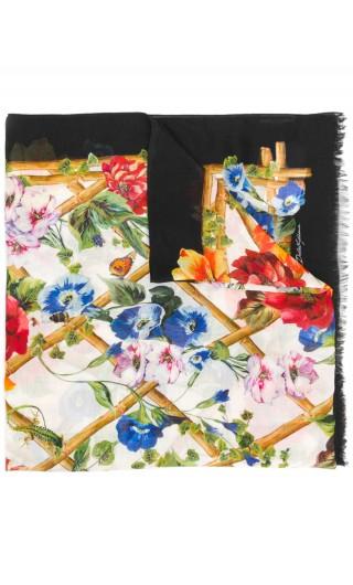 Sciarpa madola + cachem. st.fiori rampicanti