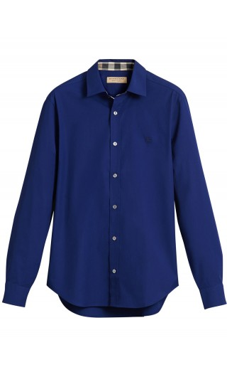 Camicia ml popeline stretch dett.check