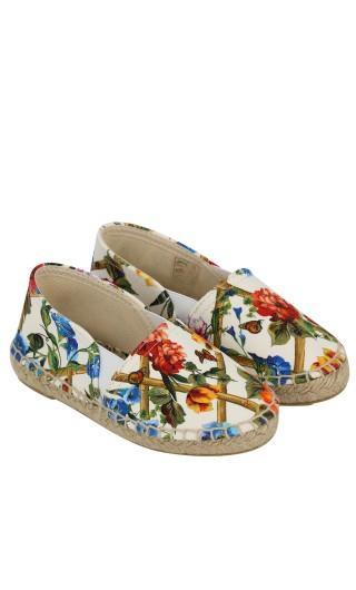 Espadrillas beachwear fiori rampicanti