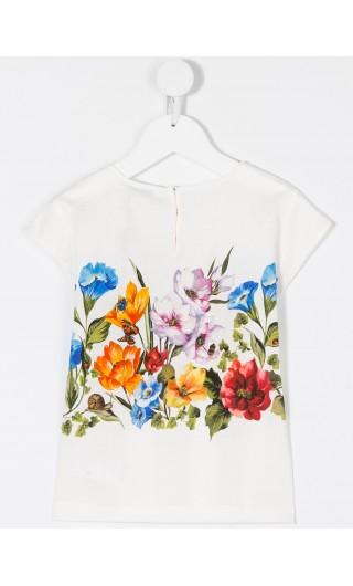 T-Shirt mm giro fiori rampicanti