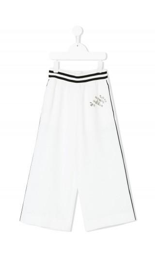 Pantalone cropped c/ricamo