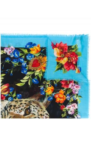 Sciarpa st.leopardo + fiori