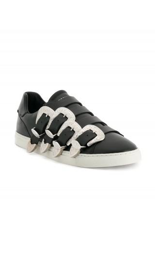 Sneakers new tennis vitello fibbie laterali