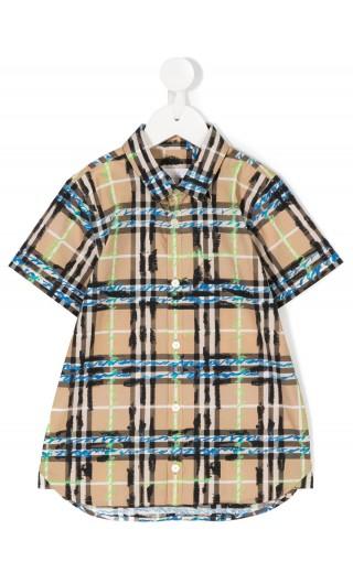 Camicia mm tartan scarabocchiato