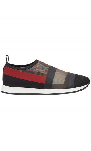 Sneakers tessuto tecnico + rete