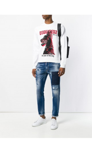 Jeans 5 asche patch