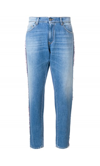 Jeans 5 tasche ricamo