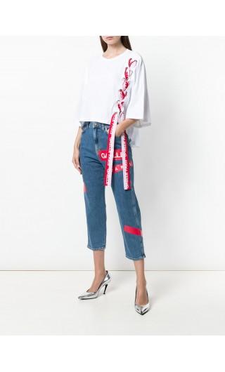 Jeans 5 tasche + stampa