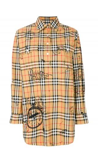 Camicia a tunica motivo Vintage check