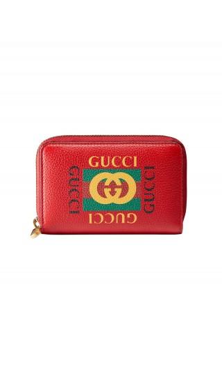 Porta carte Gucci Print in pelle