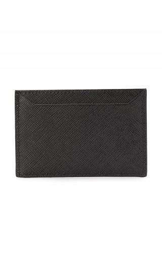 Porta carte di credito saffiano shine