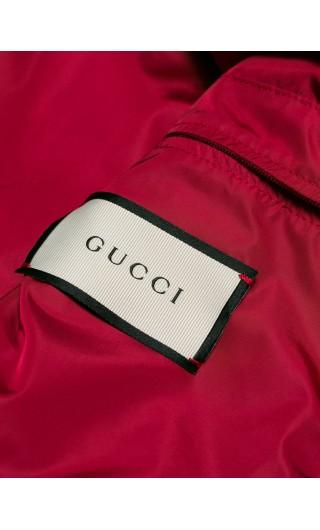 Blouson nylon jacquard GG