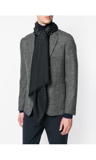 Sciarpa pois in seta lana