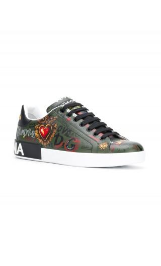 Sneakers bassa C Madonna scritte Milano