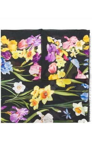 Sciarpa twill mix fiori