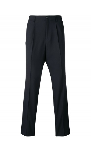 Pantaloni microstrutturati lana