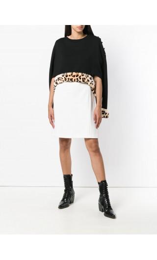 Cappa maglia + bordo pelliccia