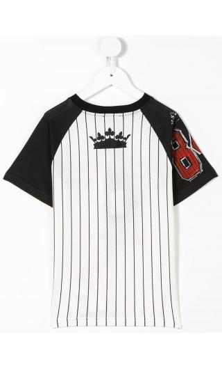 T-Shirt mm giro righe Royal Kiing
