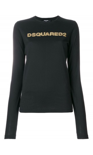 T-Shirt ml giro stampa Dsquared