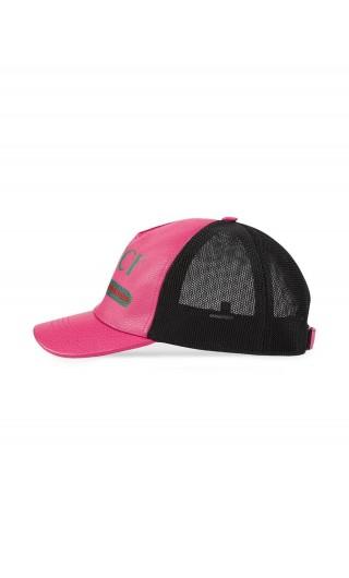 Cappello baseball Gucci Print in pelle