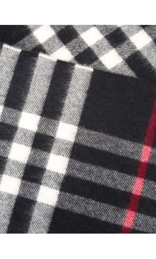 Sciarpa classica cashmere motivo check