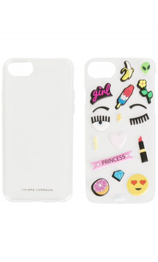 Cover iphone c/stickers