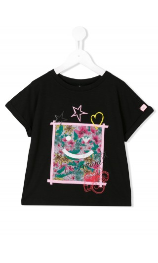 T-Shirt mm stampa gommato fiori