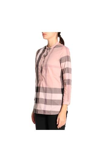 Camicia a tunica cotone motivo check