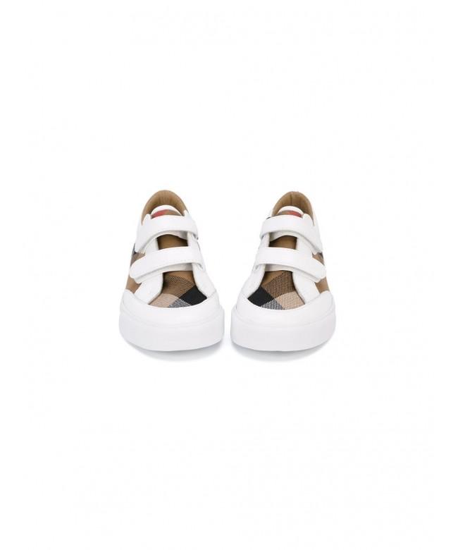 Sneakers c/pelle e motivo house check
