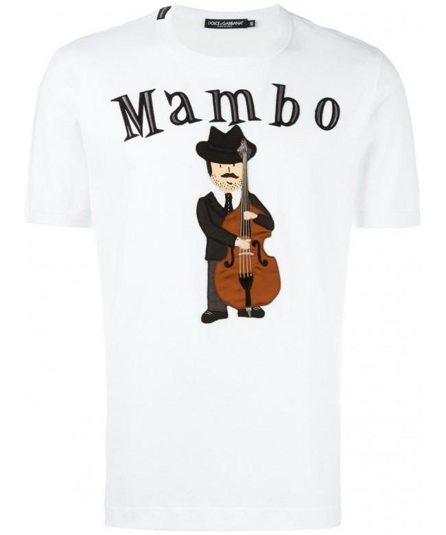 T-Shirt m giro + patch musicista + mambo
