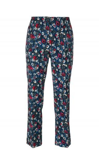 Pantalone gabardine lana stretch