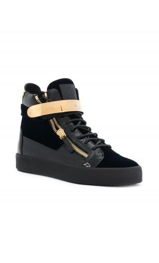 Sneakers Hi top placca strap