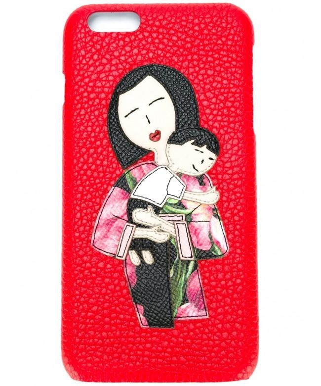 I-Phone case 6 plus vit.bottolato + patch famiglia