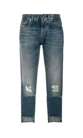 Jeans 5 tasche c/rotture