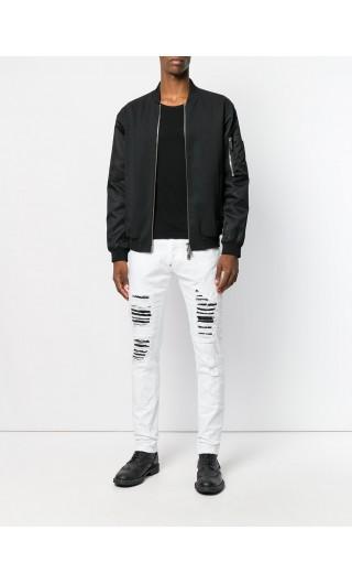 Jeans Super straight cut Camou details