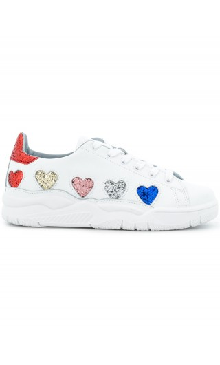 Sneakers cuori glitter