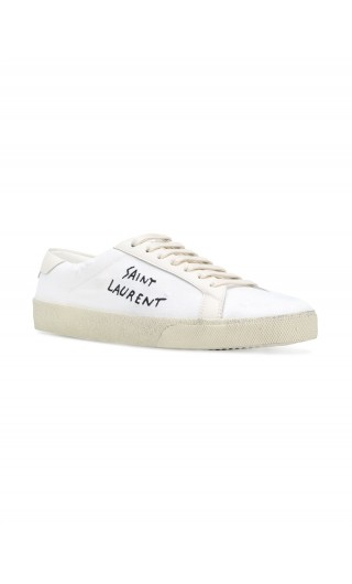 Sneakers ricamo Saint Laurent