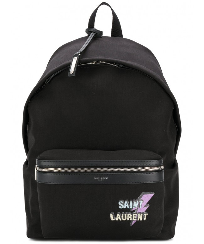 Zaino c/elem. pelle tasca Saint Laurent