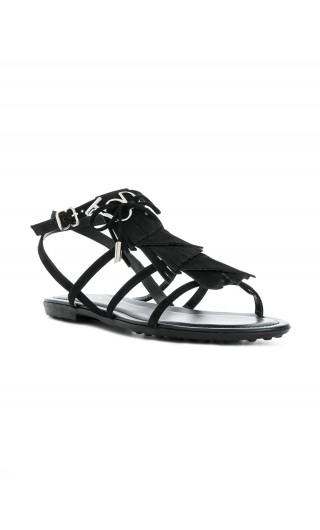 Sandalo gomma frangia