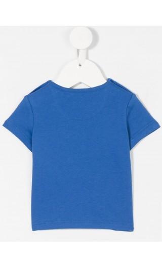 T-Shirt mm giro c/taschino mot.tartan