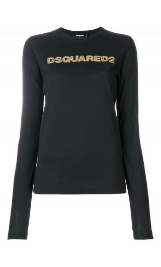 T-Shirt ml giro stampa Dsquared
