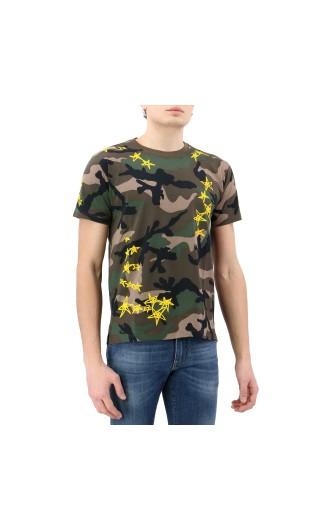 T-Shirt mm giro regular cam. + stelle zandra