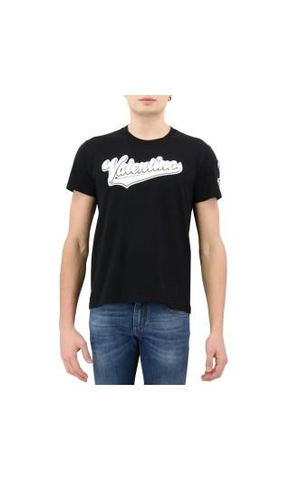 T-Shirt mm giro logo ricamato