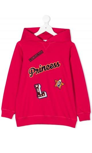 Felpa ml cappuccio Princess