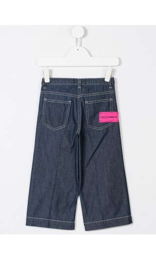 Pantalone denim largo