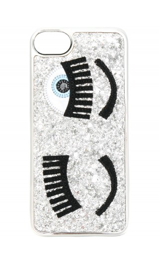 COVER IPHONE MORBIDA C/GLITTER